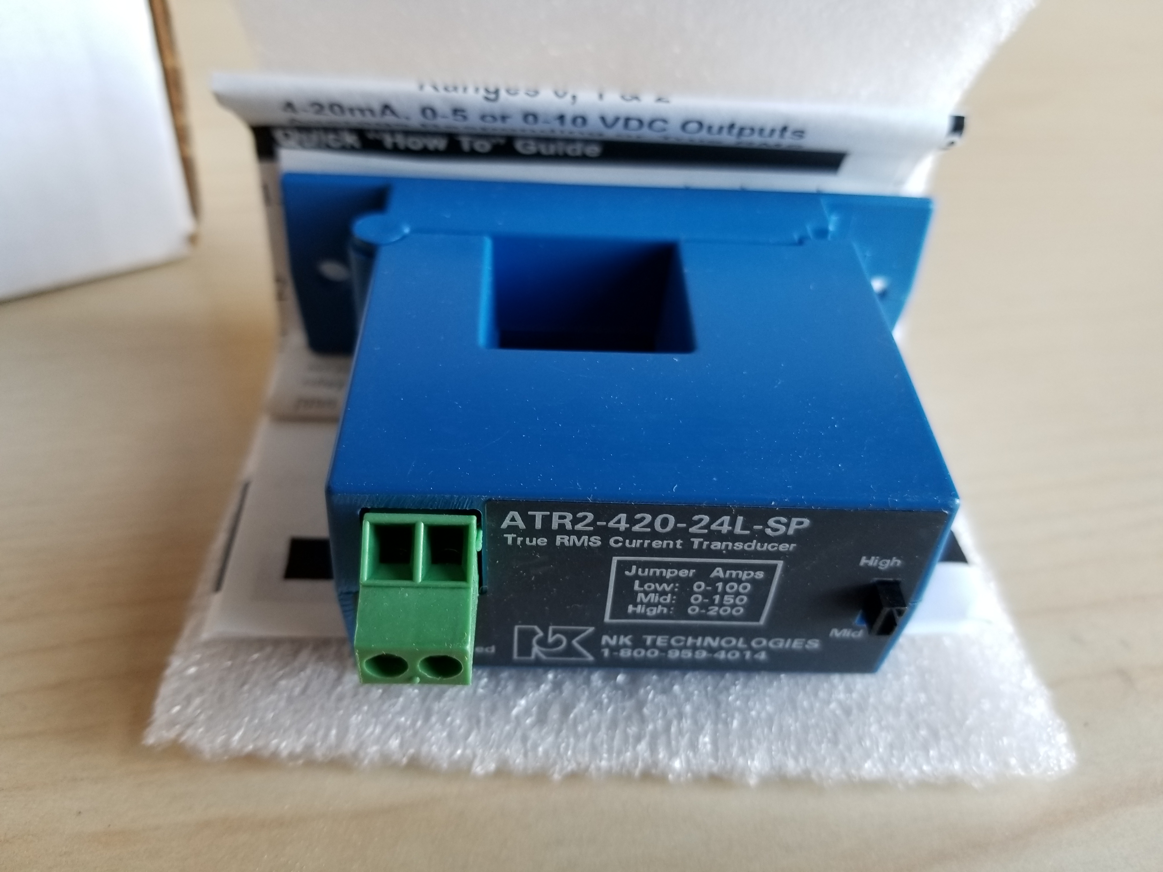 New NK Technologies Split Core True RMS AC Current Transducer - Image 3 of 3