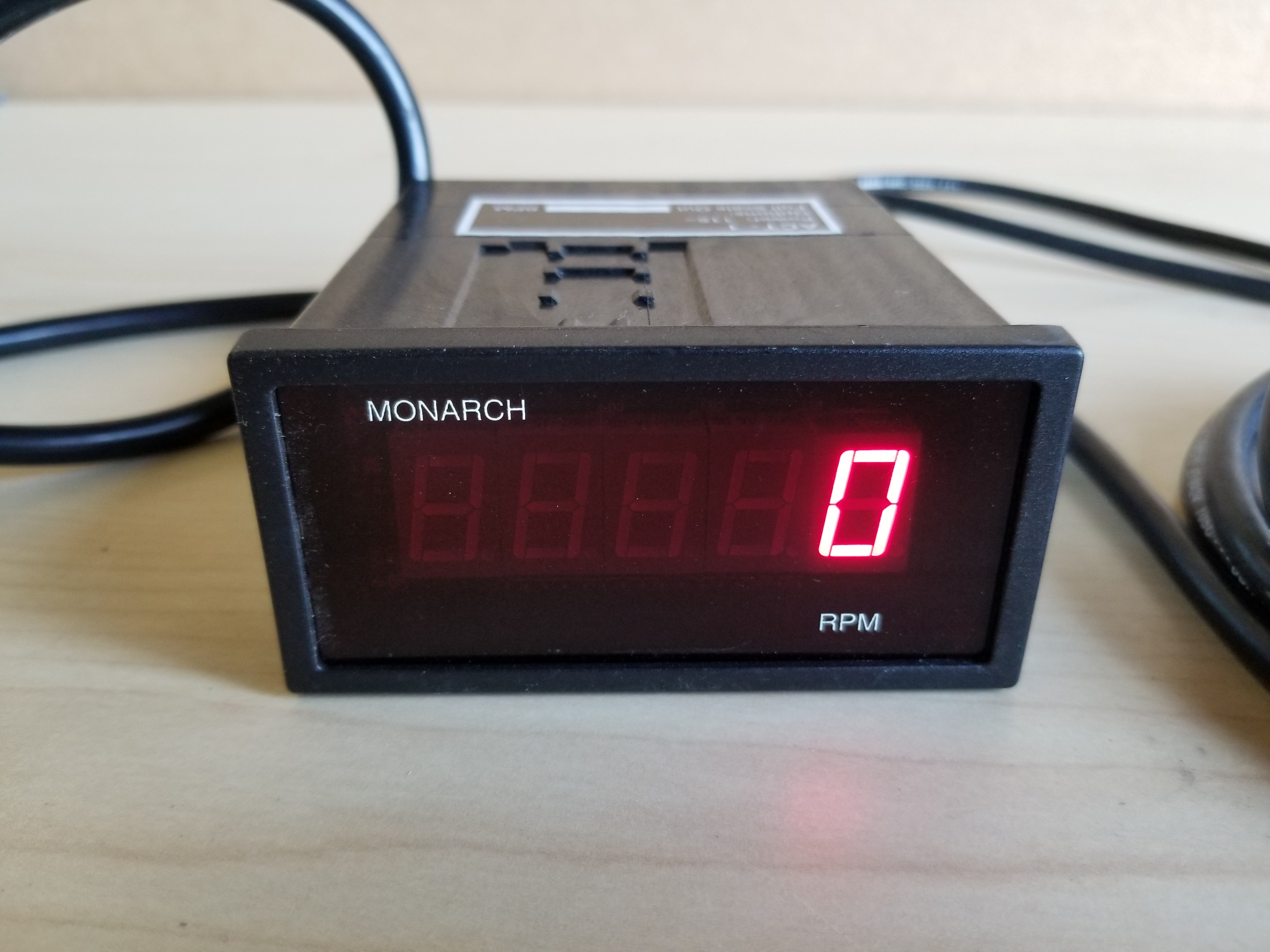 Monarch Digital Tachometer Panel Meter & Remote Optical LED Sensor - Image 11 of 16