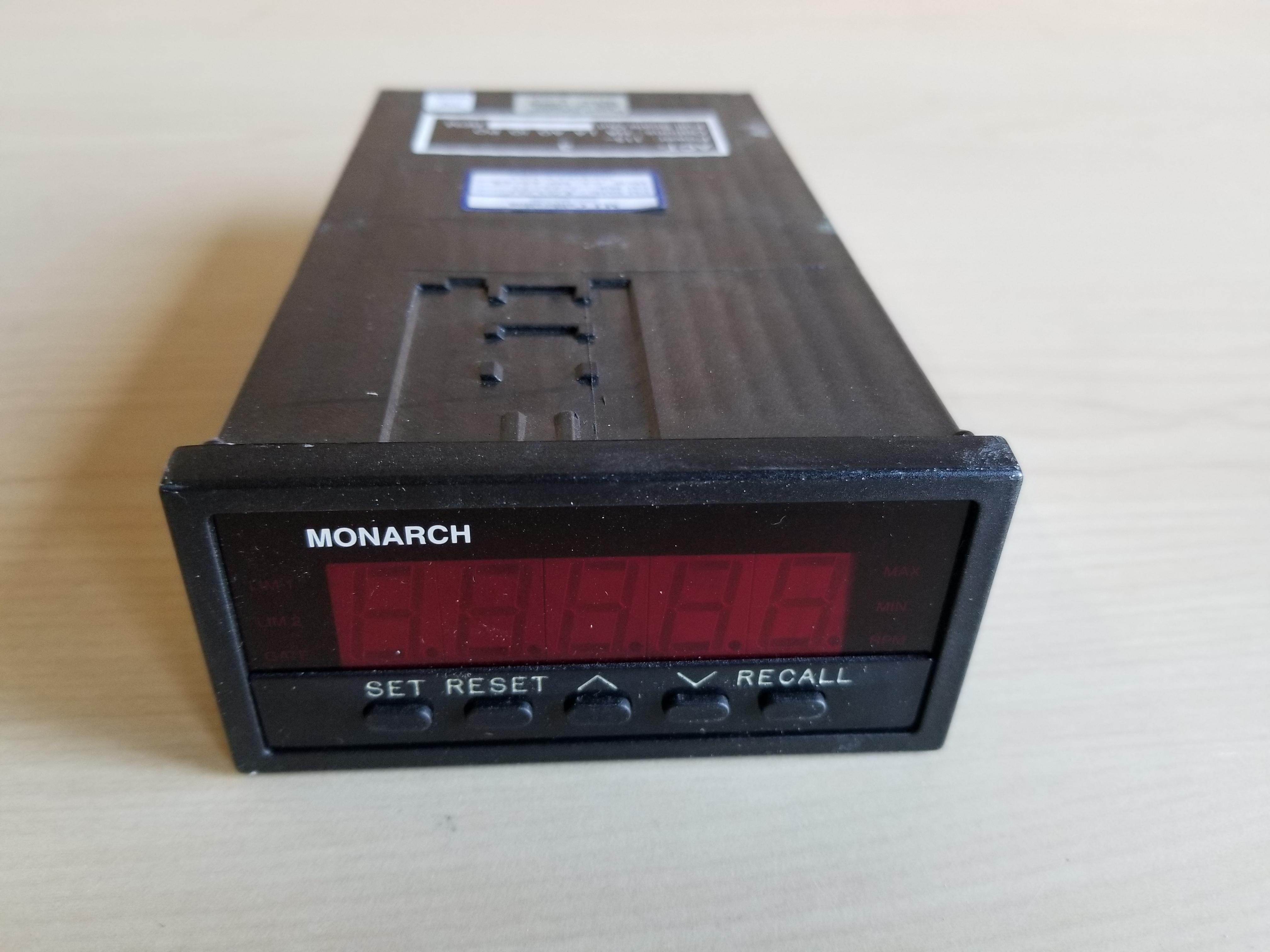 Monarch Digital Tachometer Panel Meter