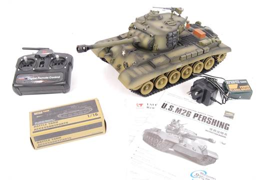 A Taigen Tanks made 1:16 scale RC Radio Controlled M26 USA