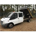 FORD TRANSIT DOUBLE CAB TIPPER 2008 08 REG - 123k