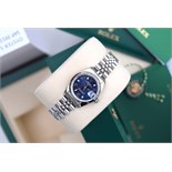 ♥ Rolex ♥ Lady Date 26 - Blue Arabic Oyster Perpetual
