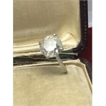 6.12ct DIAMOND SOLITAIRE SET IN 14k WHITE GOLD