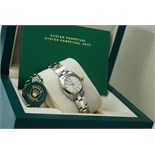 ROLEX - LADIES GOLD & STEEL OYSTER PERPETUAL