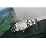 ROLEX LADIES DATE - STEEL with TAPESTRY DIAL