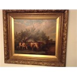 Old oil cows signed t s cooper ra 1850