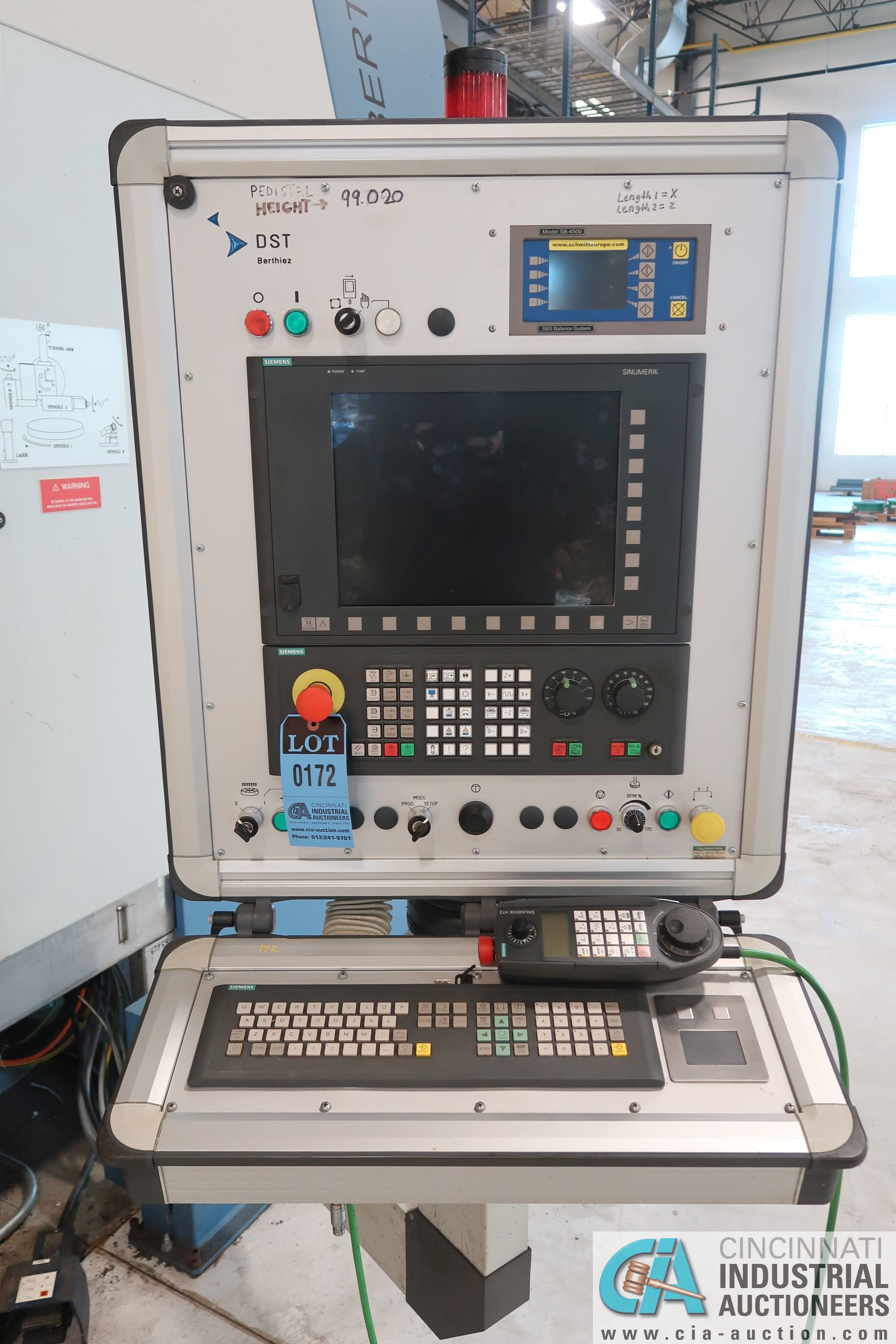BERTHIEZ MODEL RVU 900/80 ID/OD, WITH TURNING, VERTICAL CNC GRINDER; S/N 4219, 84OD SIEMENS CONTROL - Image 6 of 33