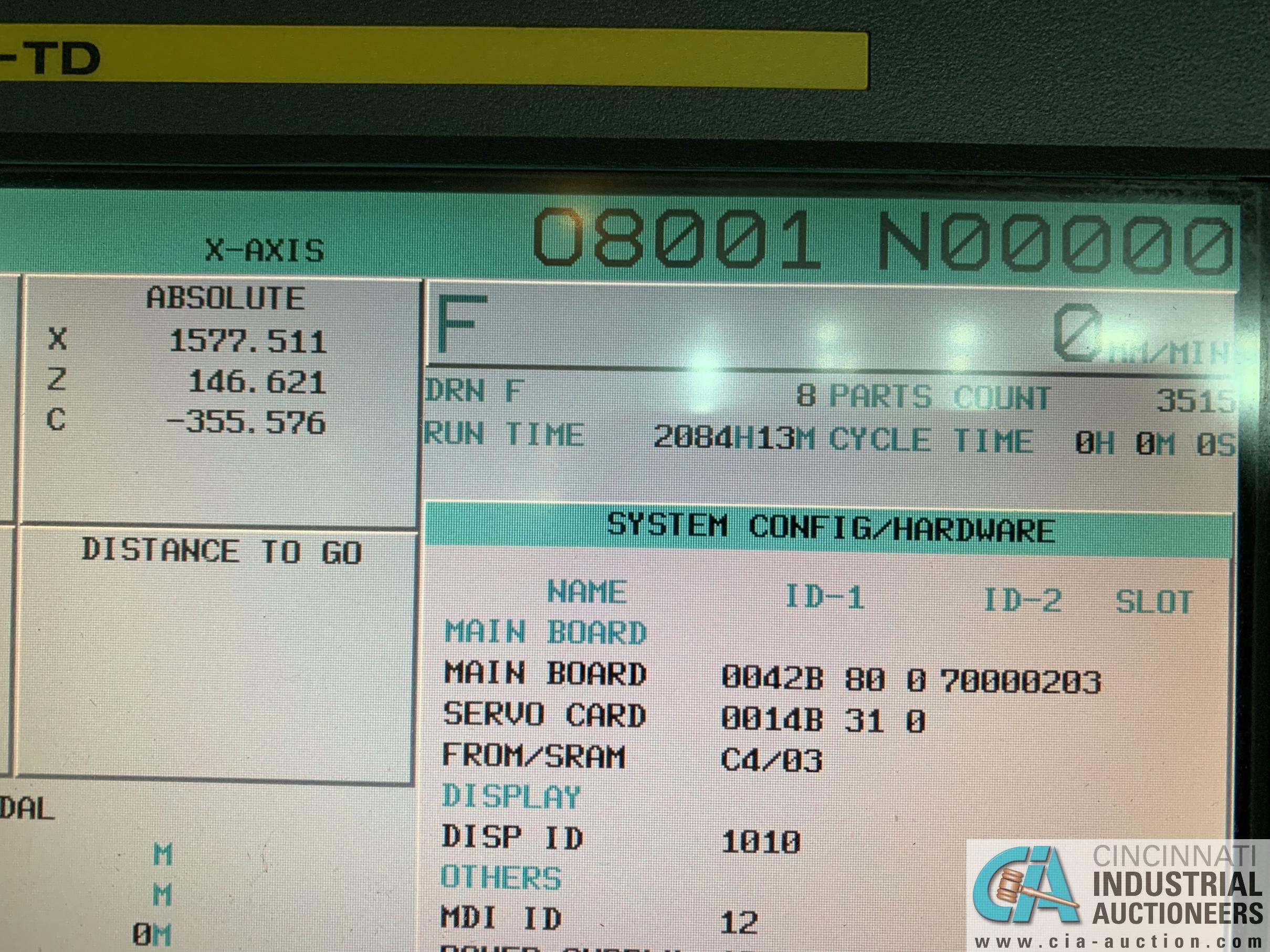 "49"" / 63"" YOU JI MODEL YV-1200ATC+C CNC VERTICAL BORING MILL W/20 HP LIVE TOOLING; - Image 7 of 25"
