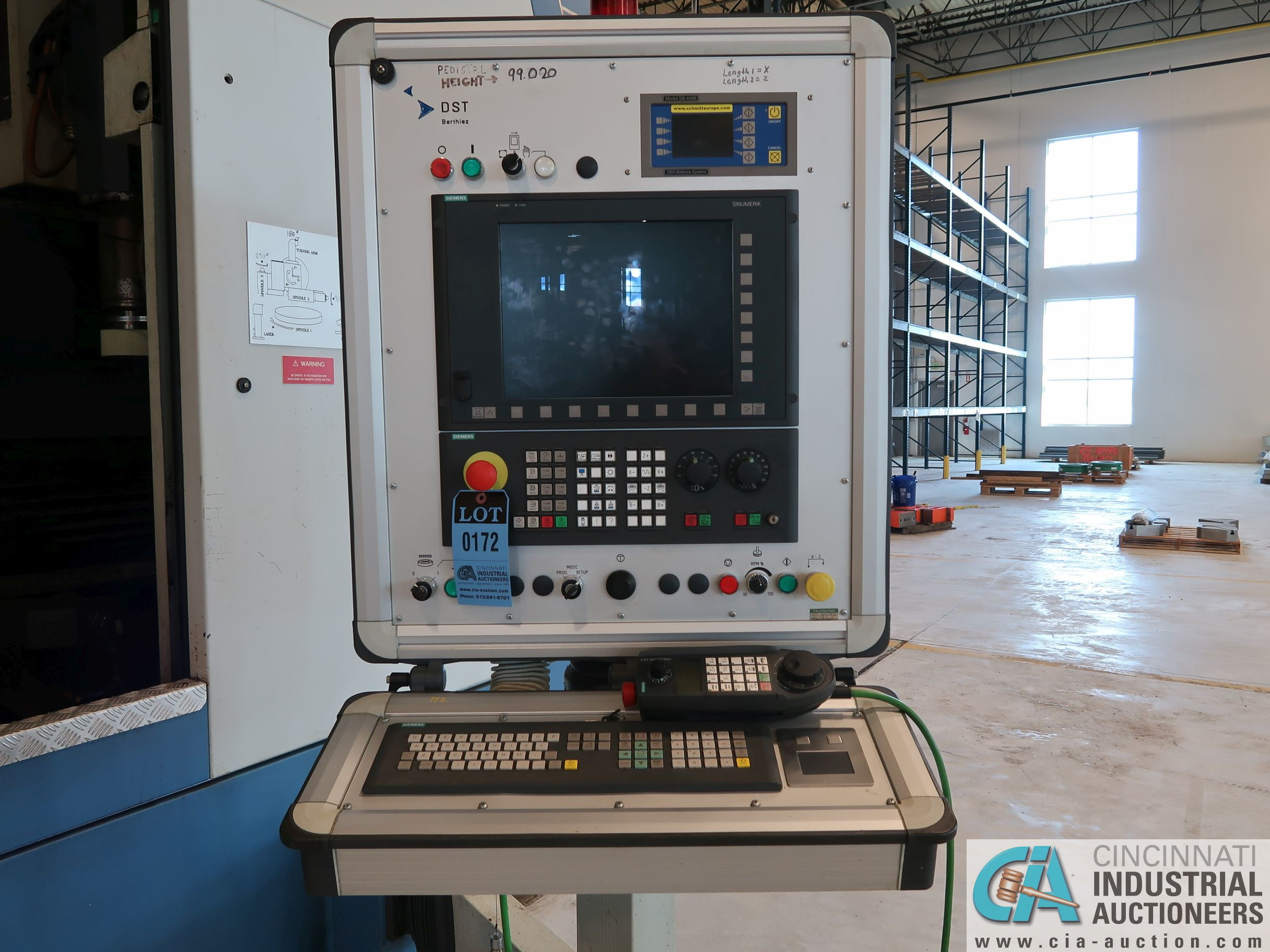 BERTHIEZ MODEL RVU 900/80 ID/OD, WITH TURNING, VERTICAL CNC GRINDER; S/N 4219, 84OD SIEMENS CONTROL - Image 17 of 33