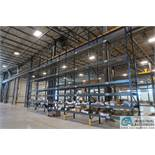 SECTIONS 9' W X 4' D X 21' H APPROX. ADJUSTABLE BEAM PALLET RACK ** BUYER MUST CUT BOLTS FLUSH WITH