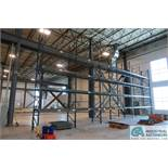 SECTIONS 9' W X 4' D X 21' H APPROX. ADJUSTABLE BEAM PALLET RACK** BUYER MUST CUT BOLTS FLUSH WITH F