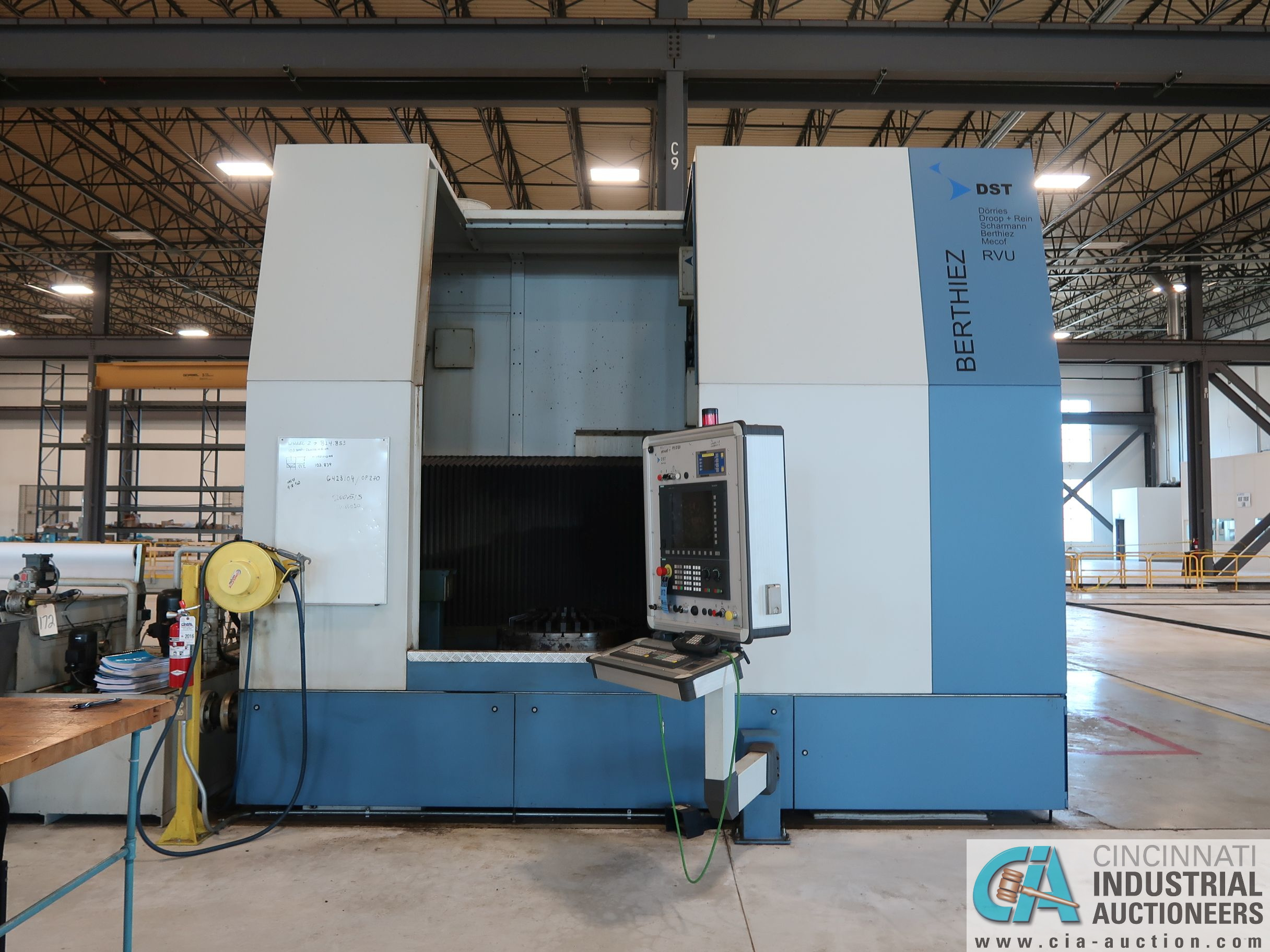 BERTHIEZ MODEL RVU 900/80 ID/OD, WITH TURNING, VERTICAL CNC GRINDER; S/N 4219, 84OD SIEMENS CONTROL - Image 16 of 33