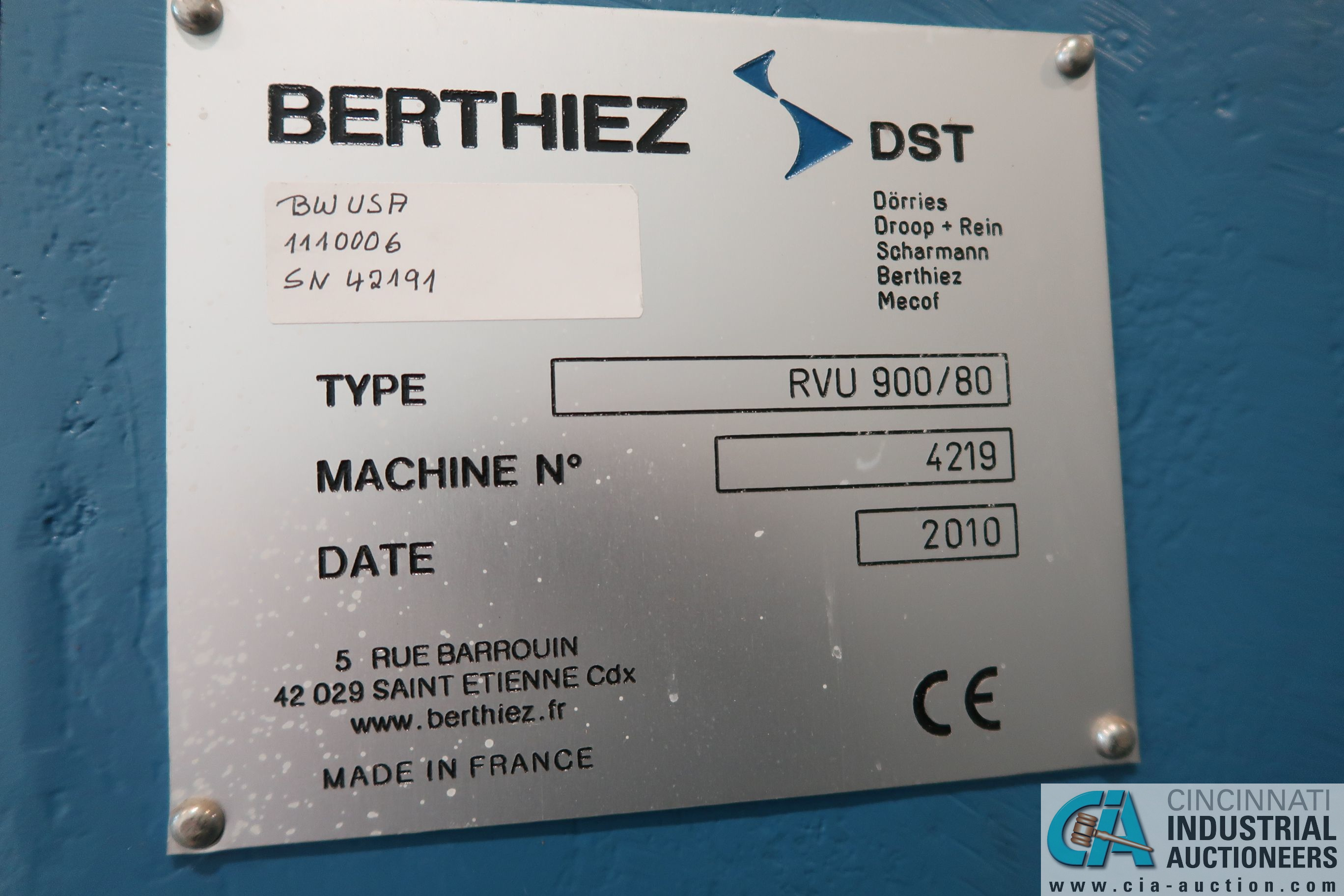 BERTHIEZ MODEL RVU 900/80 ID/OD, WITH TURNING, VERTICAL CNC GRINDER; S/N 4219, 84OD SIEMENS CONTROL - Image 5 of 33