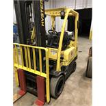 6,000 LB HYSTER MODEL S60 FT LP GAS CUSHION TIRE LIFT TRUCK; S/N F187V22546L, 3-STAGE MAST,
