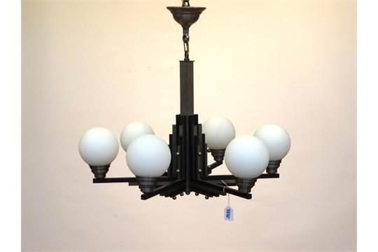 Art Deco Hanglamp : Hanglamp franse art deco hanglamp met geprofileerde stam en