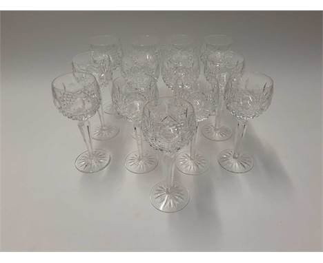 Extensive Waterford Crystal Lismore pattern table service - 66 pieces plus a Waterford Crystal clockCondition report: All in