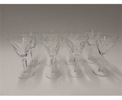 Set of eight Waterford Crystal Sheila pattern wine glasses and seven Sheila pattern tumblers (15)Condition report: Two wine g