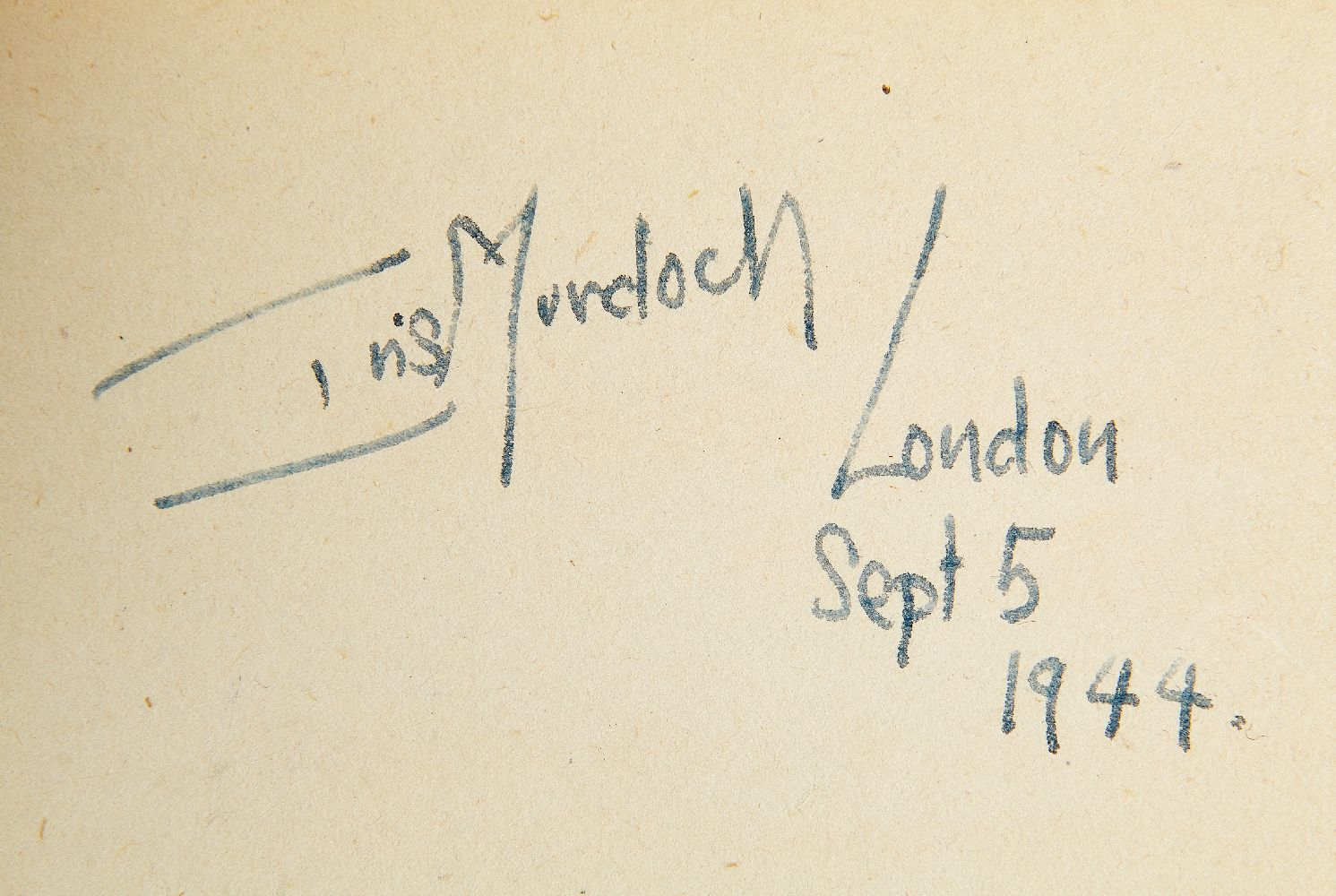 Ɵ Laurie Lee, The Sun my Monument, first edition in book form, Iris Murdoch's personal copy - Image 2 of 2