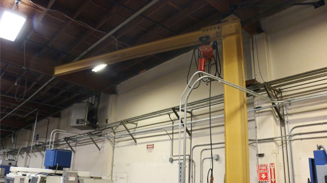 Lot 102 - Gorbel 1/2 Ton Jib Crane with 1/2 Ton CM Lodestar Hoist