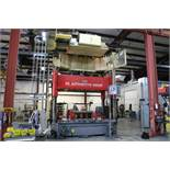 "200 Ton Capitol 4 Post Hydraulic Spotting Press, 60"" x 96"" Ram & Bolster, 40"" Stroke, PLC Control,"