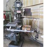 "Lagun FTV-2 Vertical mill, 10""x50"" TBL, DRO, PDB, PF, VISE, VS, s/n SE-17845"