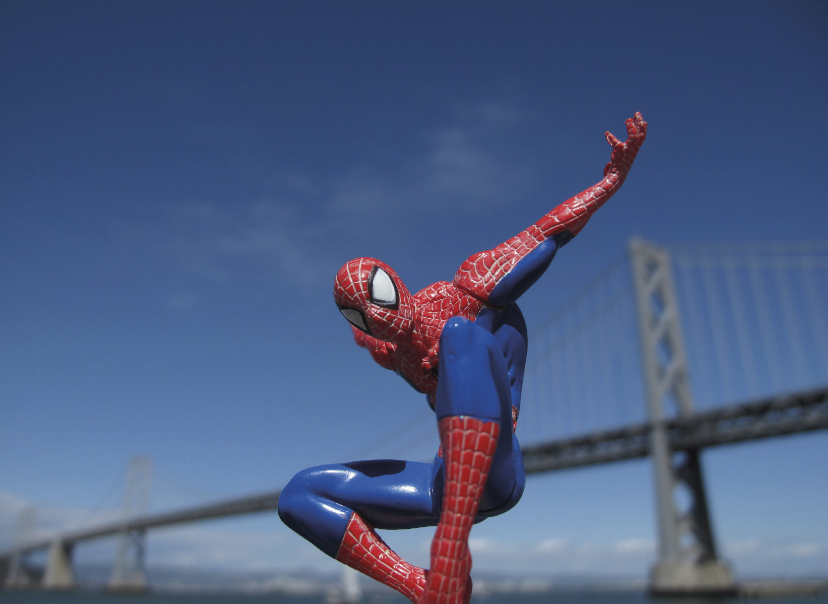 Lagarde Laurent (XXe-XXIe ) SpiderMan at the Bay Bridge, 2014 - Photography N°3/5 - [...]