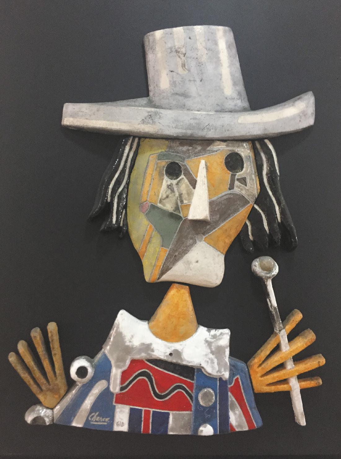 Lot 84 - Chanco Roland (1914-2017) Le vieux Dandy - 1993 - 100 x 75 cm - Mixed media on panel [...]