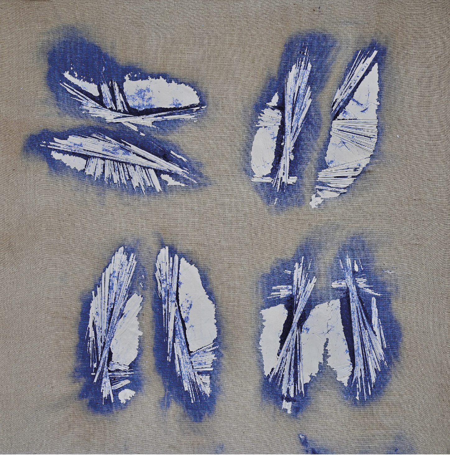 Frydman Maurice (1928) 4 Figures Blanches au Carré, 2017 - Acrylic on canvas - 70 x [...]