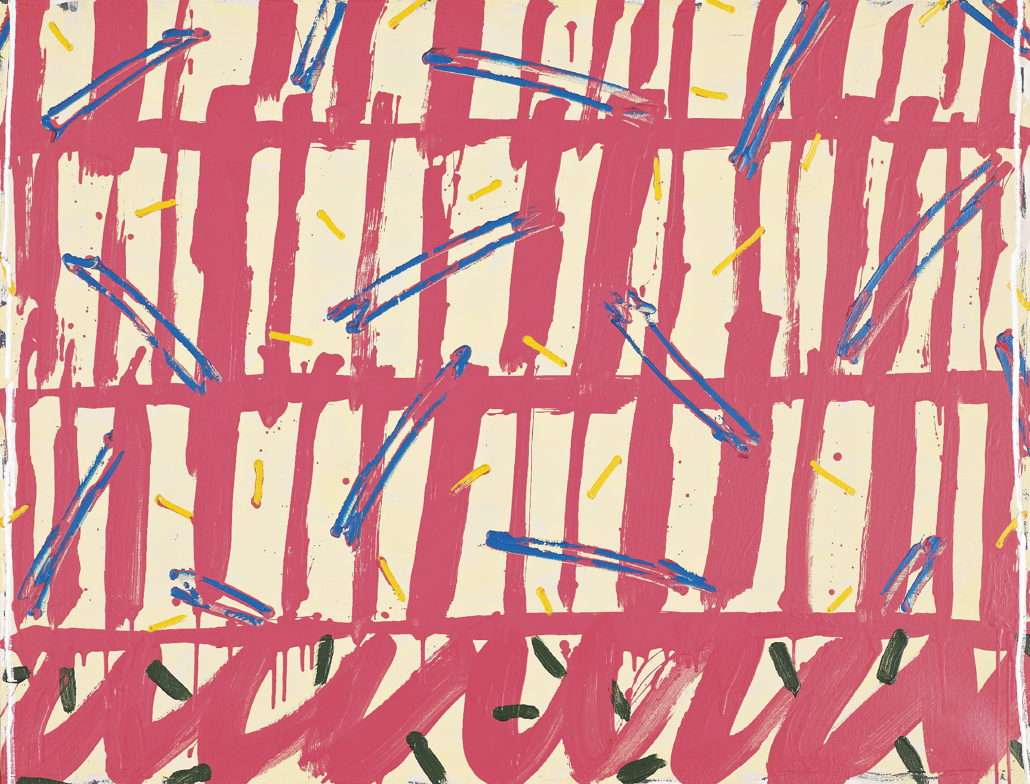 Celice Pierre (1932-2019) Untitled, 1991. Oil on canvas - Signed and dated on verso - [...]
