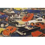 Salkin Emile (1900-1977) Circulation, 1955 - Oil on isorel, signed - 100 x 145 cm -