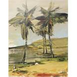 FRANTA (1930) Les palmiers - Oil on canvas - Signed and tilted on verso - 100 x 81 cm -
