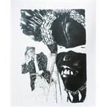 Le Gac Jean (1928-2005) Le peintre et l'écho, 2005 - Serigraph Signed on lower [...]