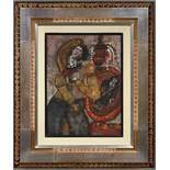 Tobiasse Theo (1927-2012) Par moi viendra le roi David - Gouache on paper mounted on [...]