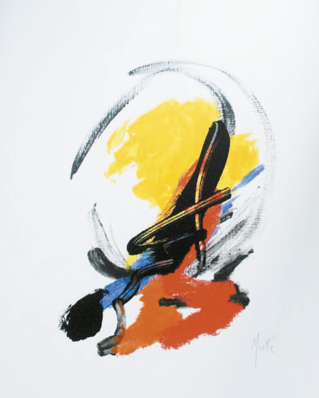 Lot 105 - Miotte Jean (1926) Untitled, 2005 - Serigraph Signed on lower right - 50 x 40 cm -