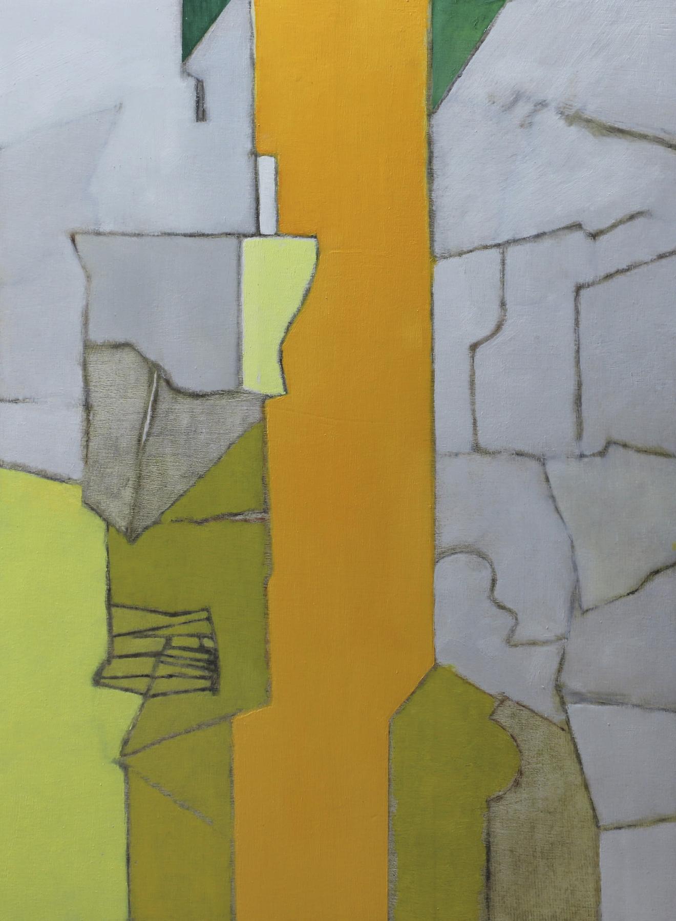 Lot 12 - De Bolle Francis (1939) Lieu Clos, 1996 - Oil on panel - 60 x 45 cm -