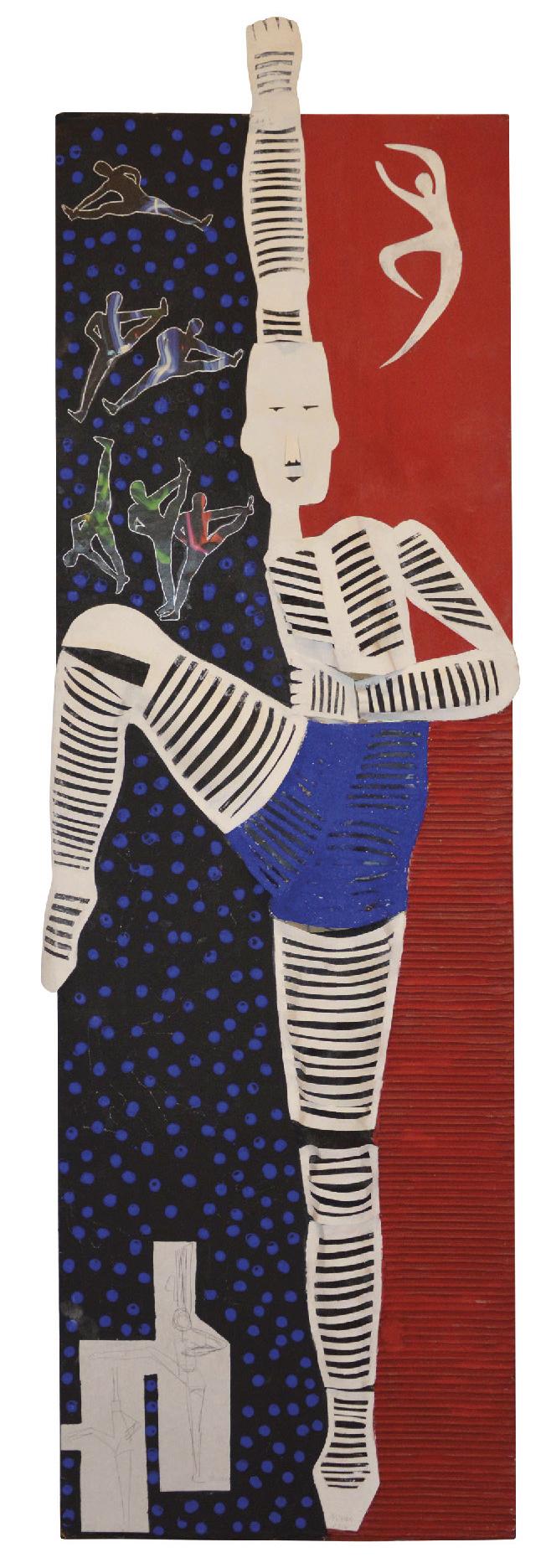 NIVESE Oscari (1944) Danseur, 2016 - Mixed media - 147 x 47 cm -