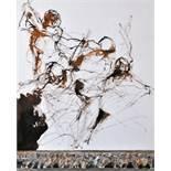 Conte Paul (1947) Etude pour une scène de combat 28,5 x 23 cm - Gouache, pastel, [...]