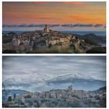Pesche Phiippe (XXe-XXIe ) Saint Paul été et hiver - Photography - 32 x 55 cm - [...]