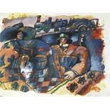 Tobiasse Theo (1927-2012) L'amour est bleu sur les quai des gares, Lithograph [...]