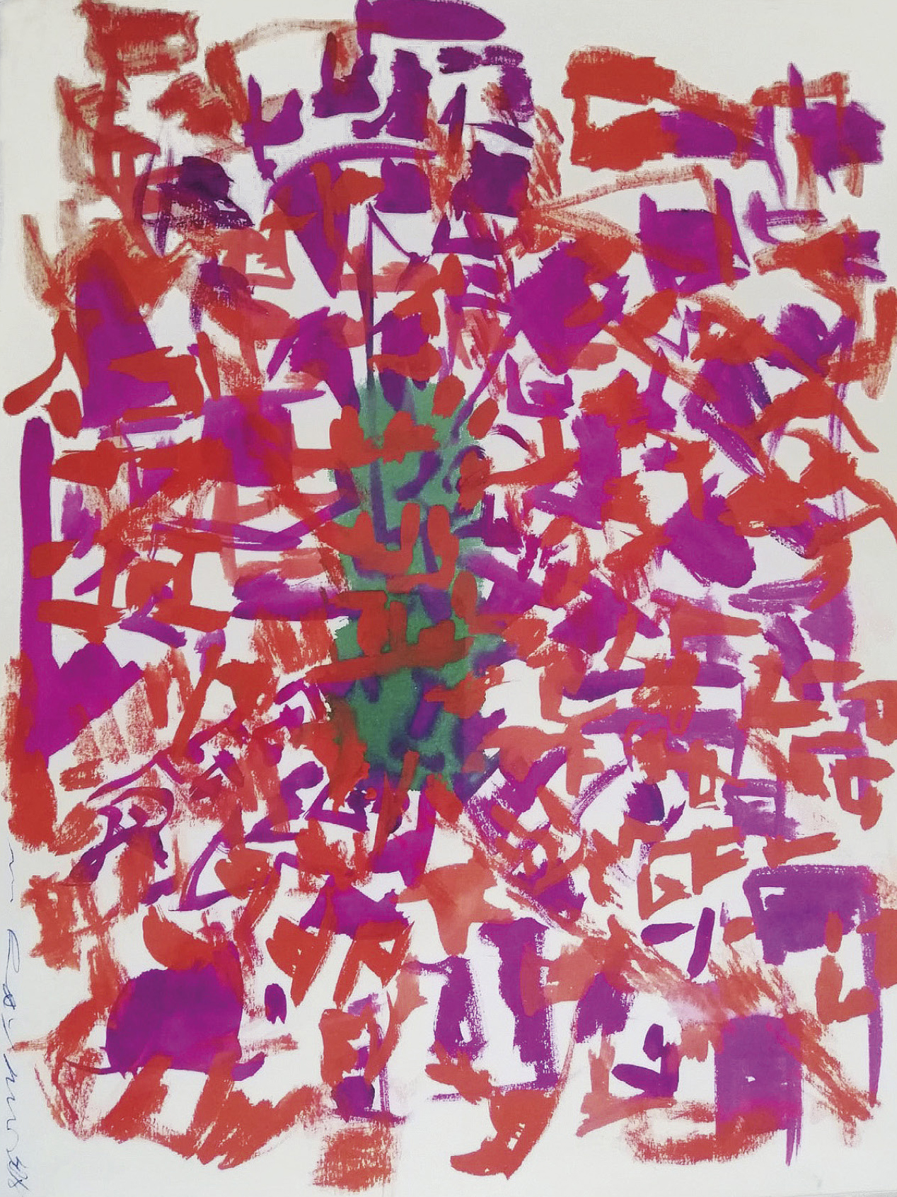 Lot 54 - Raymond Marie (1908-1988) (mother of Yves Klein) Untitled - Gouache on paper - Signed [...]