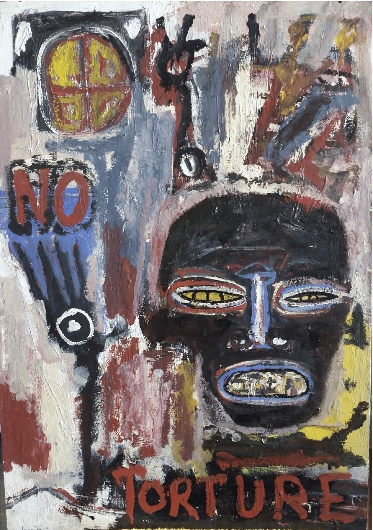 Lot 42 - Liccia Dominique (1953) No torture - Mixed media - Signed on the lower left - 86 x 60 [...]