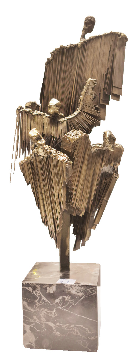 Lot 21 - Fernandez Daniel (1961) Plusieurs, 2002 Brass sculpture - 60 x 30 x 30 cm -