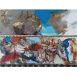 Conte Paul (1947) Scènes de la vie d'un saint - Oil on panel - 60 x 80 cm -