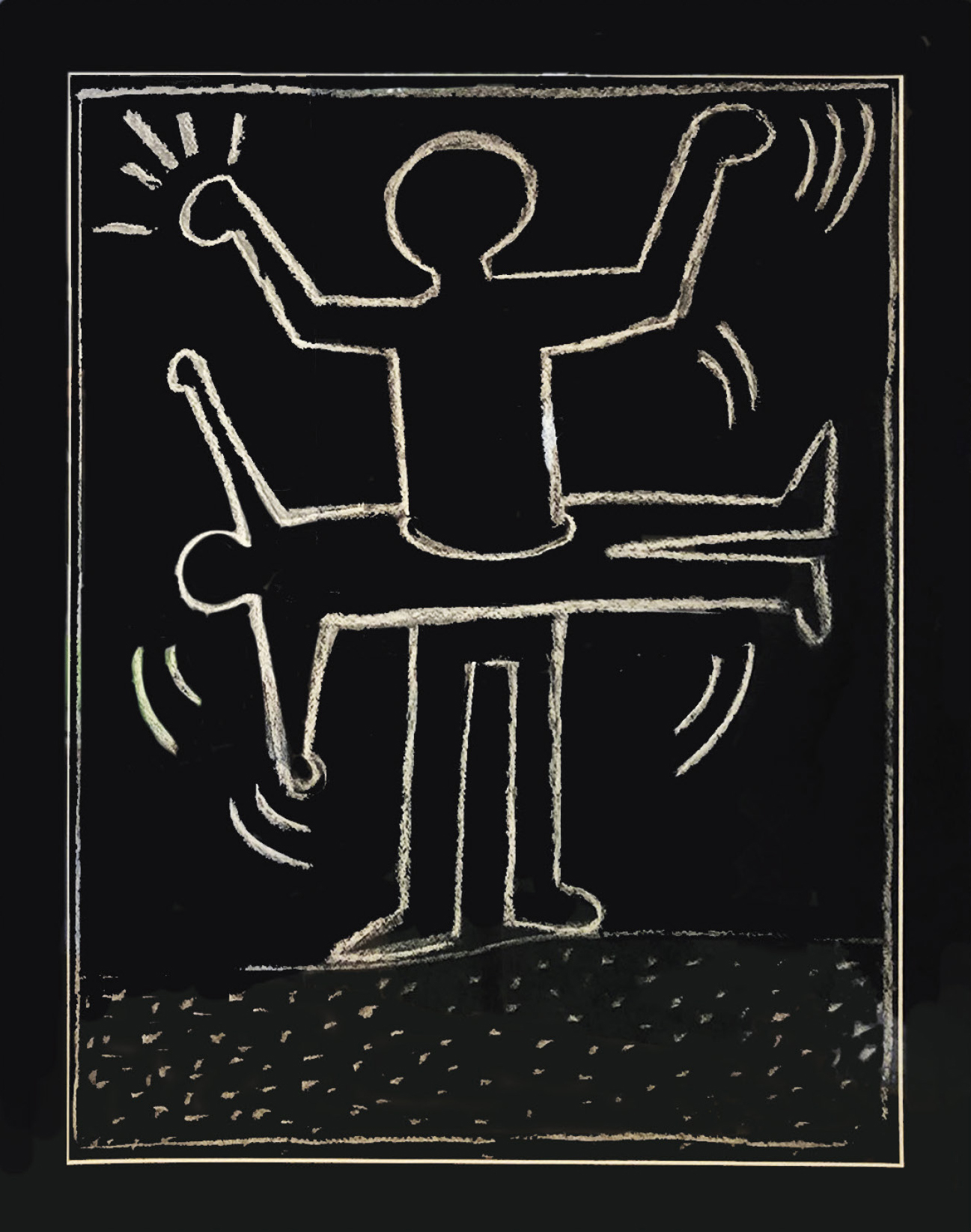 Haring Keith (1958-1990) Travail dans le métro à New York, 1987 - Mixed media on [...]