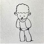 MOYA Patrick (1955) Dolly fond blanc Acrylic on canvas - Signed lower on center - 40 [...]