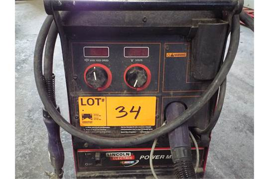 LINCOLN POWERMIG 255 PORTABLE DIGITAL MIG WELDER WITH CABLES AND GUN