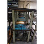 """Rousseau 24"""" x 36"""" x 34"""" High Benches with Metal Legs & Wood Top"""