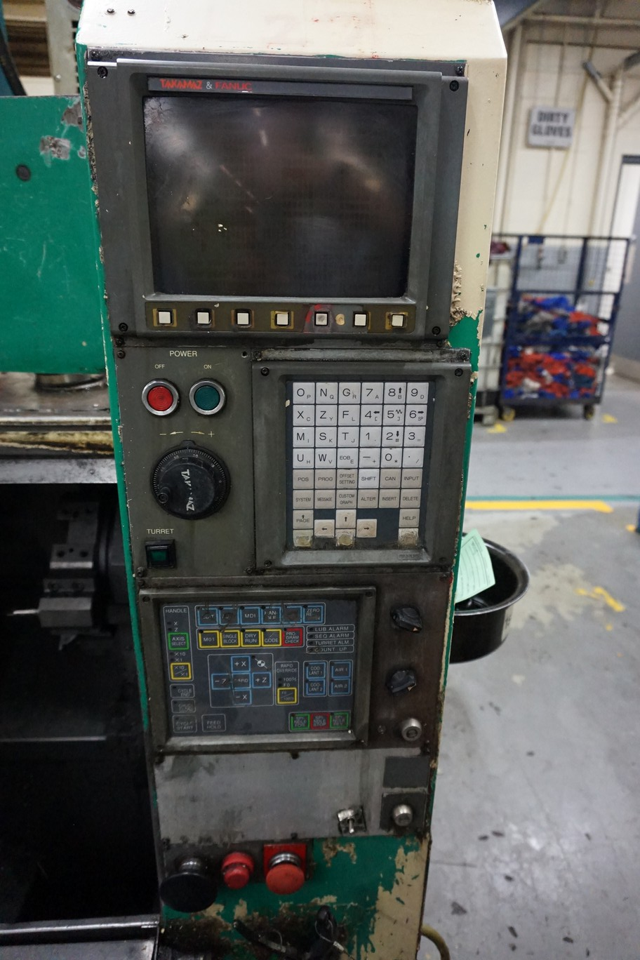 Takamatsu Model X10 CNC Lathe 200/220V c/w Chip Conveyor, Transformer - Image 2 of 5
