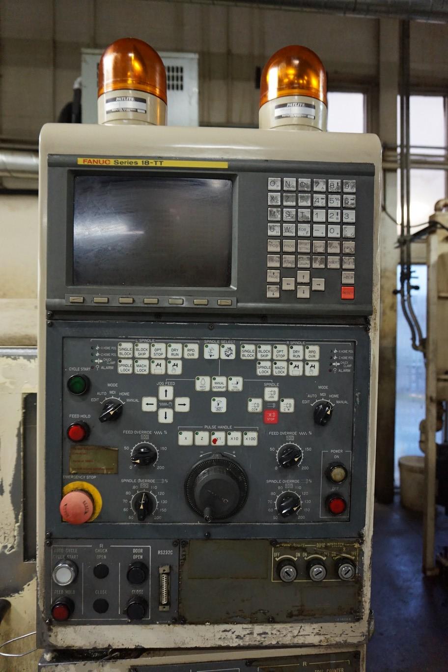 Okuma-Howa Model 2SP-20H CNC Lathe, c/w Fanuc Series 18-TT Controller, Chip Conveyor, Transformer - Image 2 of 7