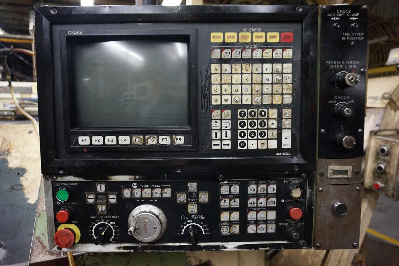 Okuma Model LB15 CNC Lathe 220/440V c/w Chip Conveyor, Transformer - Image 2 of 4
